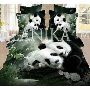 """Постельное белье 3D сатин """"Панда"""""""