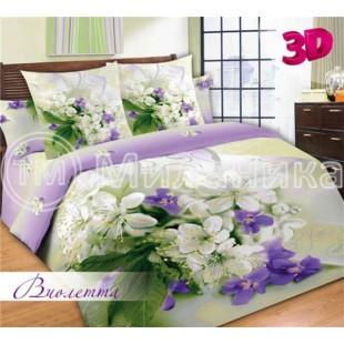 """3d постельное белье """"Виолетта"""" из сатина"""