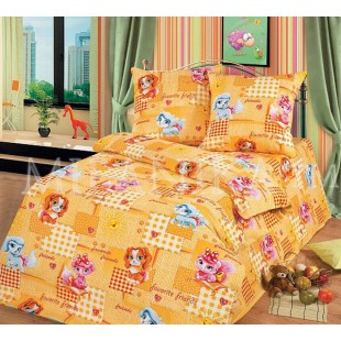 Детское постельное белье с заплатками Дружба