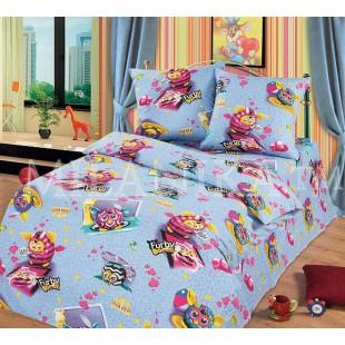 Комплект детского постельного белья с пушистиками Furby boom из бязи