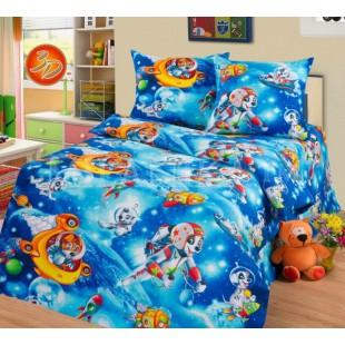 Детское постельное белье с щенятами в космосе - Космики