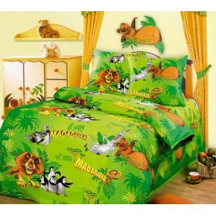 Детский комплект постельного белья - Веселая компания Мадагаскар
