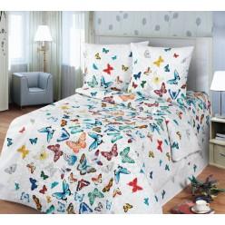 Бабочки разноцветные на белом