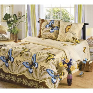 Постельное белье Эйфория с бабочками из бязи