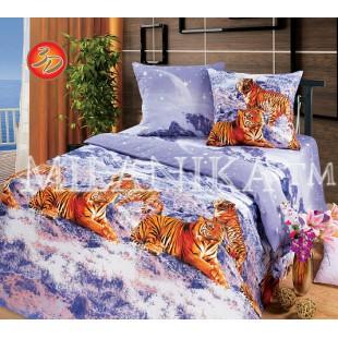 Постельное белье Лунная соната с тиграми 3d бязь
