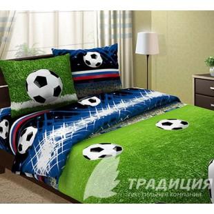 Постельное белье с футбольным полем и мячом - бязь