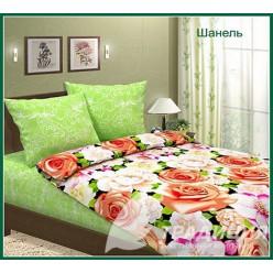 Шанель салатовый с розами
