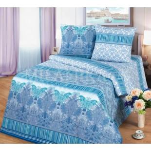 Постельное белье в сине-бирюзовой гамме с узором - Венеция