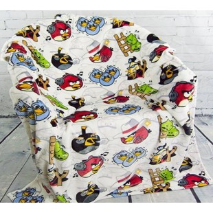 Плед белого цвета с птичками Angry Birds