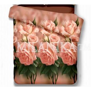 Покрывало с розами Мадлен из сатина-атласа