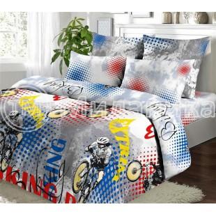 Детский комплект постельного белья с велосипедистом