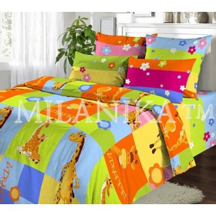 Детское постельное белье из поплина - Жирафики