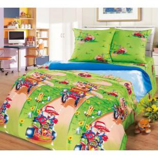 Детское постельное белье поплин с лисенком - Марафон