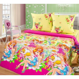 Детское постельное белье с пони и волшебницами-феями из поплина
