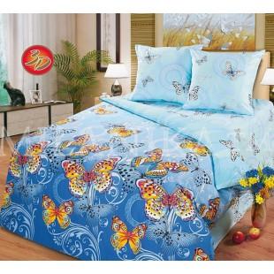 Баттерфляй - постельное белье с бабочками из поплина