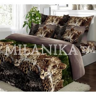 """Комплект постельного белья """"Джек"""" с леопардом из поплина"""