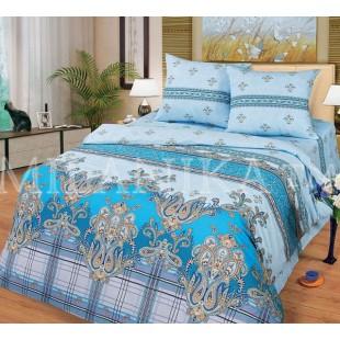 Постельное белье бирюзового-голубого цвета с восточным принтом - Персия