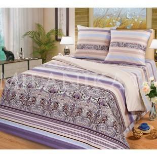 Постельное белье в серо-фиолетовой гамме Сантьяго из поплина