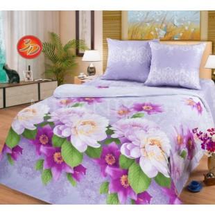 Постельное белье с цветочной расцветкой в фиолетовой гамме - Виктория