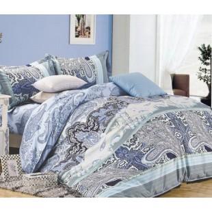 Постельное белье - Восточные узоры поплин бирюзово-голубого цвета