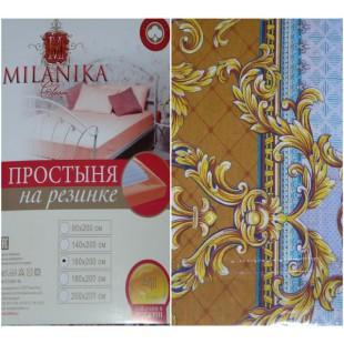 Простынь на резинке из хлопка (бязь) с королевскими узорами в винтажном стиле