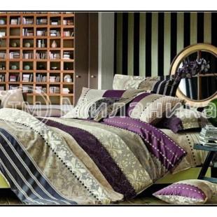 Купить постельное белье Аристократ из сатина полосатое