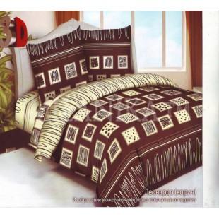 Постельное белье коричнево-бежевое с рисунком шоколад - Леонардо