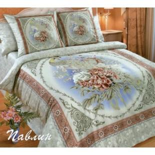 Комплект постельного белья с купонным рисунком Павлин