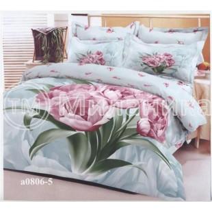 Комплект постельного белья из сатина с пионами