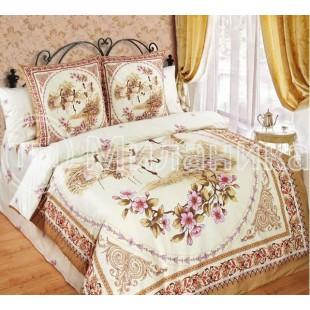 Комплект постельного белья купонный сатин Журавли