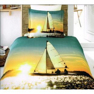 Постельное белье яхта на закате бамбук