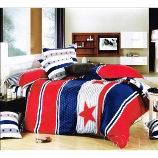 Постельное белье бело-сине-красное с полосами и звездами