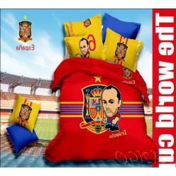 Постельное белье с футболистом Испании - Иньеста