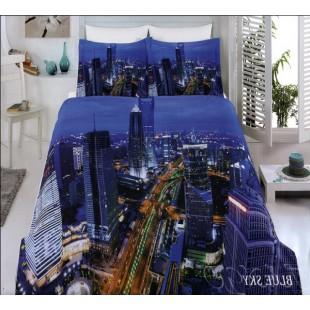 Бамбуковое постельное белье - Вечерний мегаполис