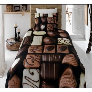 Постельное белье с принтом шоколадных конфет бамбук