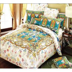 Постельное белье бежевого цвета с персидским узором сатин