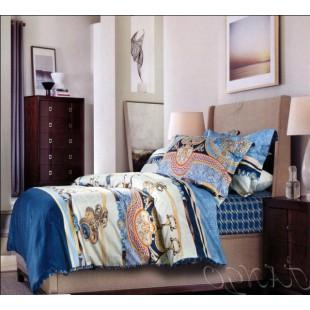 Постельное белье синего цвета с морской тематикой сатин
