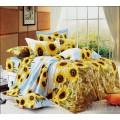 Фланелевый комплект постельного белья с подсолнухами