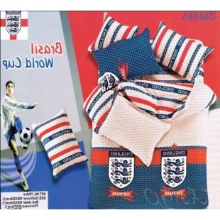 Постельное белье - The FA (футбольный клуб Англии) бежево-синее с красным
