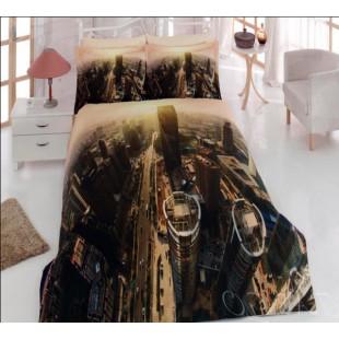 Постельное белье - Город вид сверху из ранфорса
