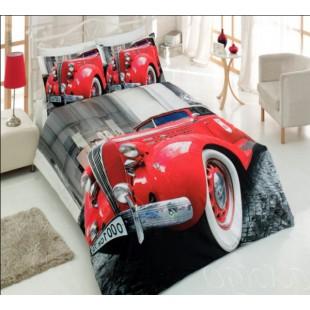 Постельное белье с красным ретро автомобилем Virginia Secret