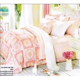Постельное белье – Деревенские мотивы сатин нежно-розового цвета