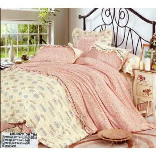Постельное белье с мелким рисунком розовое с желтым - Прованс (сатин)