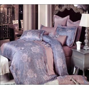 Дымчато-сиреневый жаккардовый комплект постельного белья