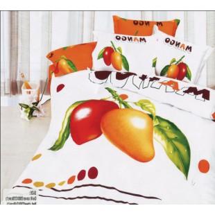 Сатиновый комплект постельного белья с плодами манго