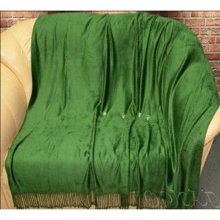 Плед зеленого цвета из бамбукового волокна