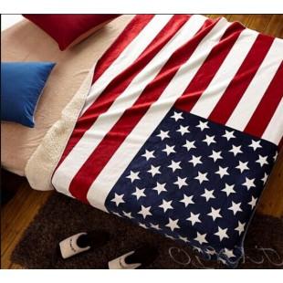 Плед с флагом Америки