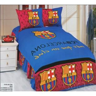 Постельное белье FCB Barcelona синего цвета с логотипом футбольного клуба