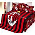 Постельное белье ACM футбольное Милан - черно-красные полосы