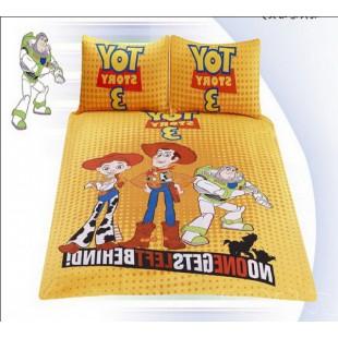 Постельное белье История игрушек в желтой гамме - детский сатин